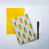 Stripy Pineapple notebook | Available at Dessi-Designs.com