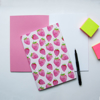 Pink Strawberry Notebook Open | Available at Dessi-Designs.com