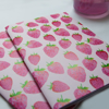 Pink and Red Strawberry Notebooks | Available at Dessi-Designs.com
