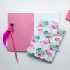 Pink Flamingo Notepad | Available at Dessi-Designs.com