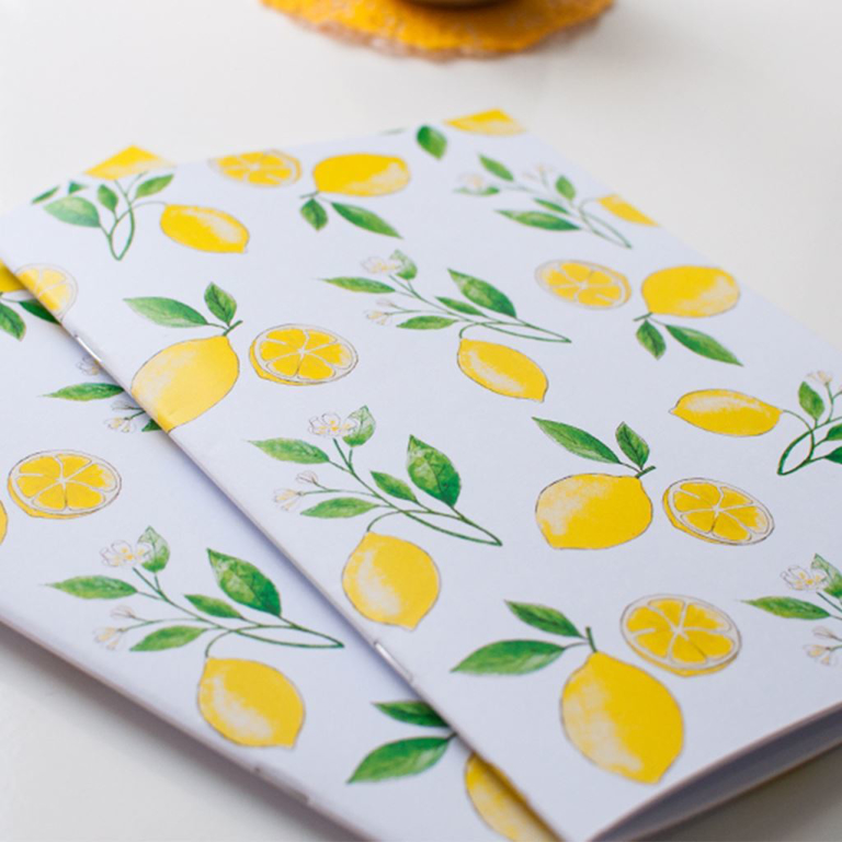 Yellow Lemon Notebook Set | Available at Dessi-Designs.com