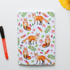 Orange Foxes Jot pad | Available at Dessi-Designs.com