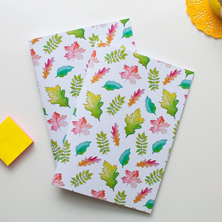 Fall Leaves Notebook | Available at Dessi-Designs.com