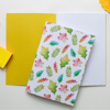 Autumn Leaves Notebook Yellow Inside Cover | Available at Dessi-Designs.com