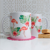 Pink Flamingo Microwavable Coffee Cups | Available at Dessi-Designs.com