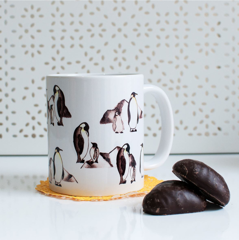 Penguin Coffee and Microwavable Mug | Available at Dessi-Designs.com