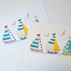 Picture of Summer Boats -Watercolour  Wall Print