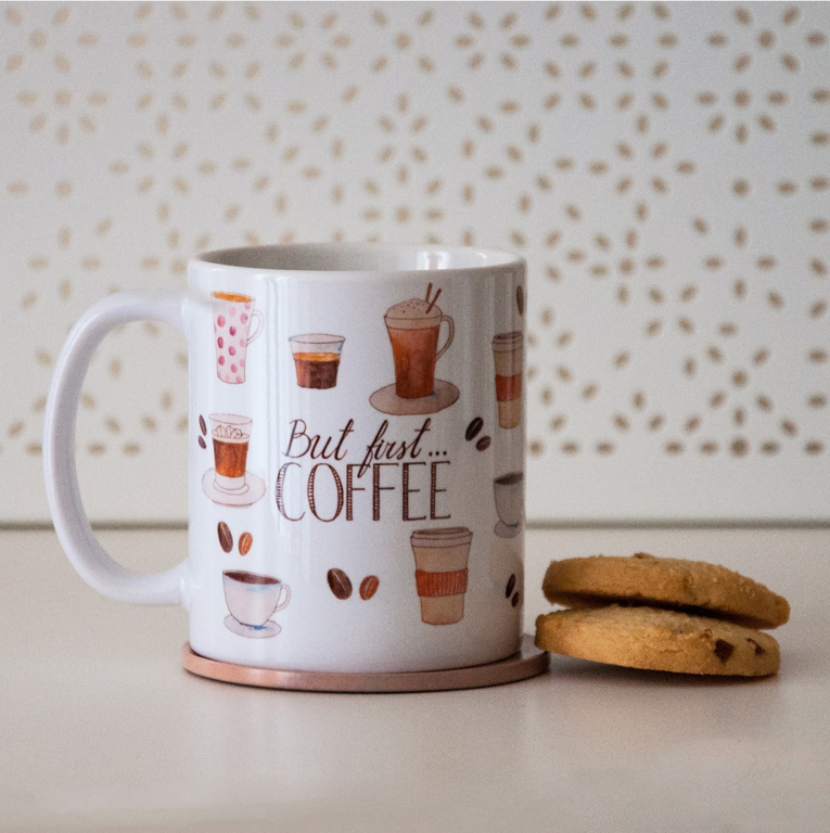 But First Coffee and Microwavable Muffin Mug | Available at Dessi-Designs.com