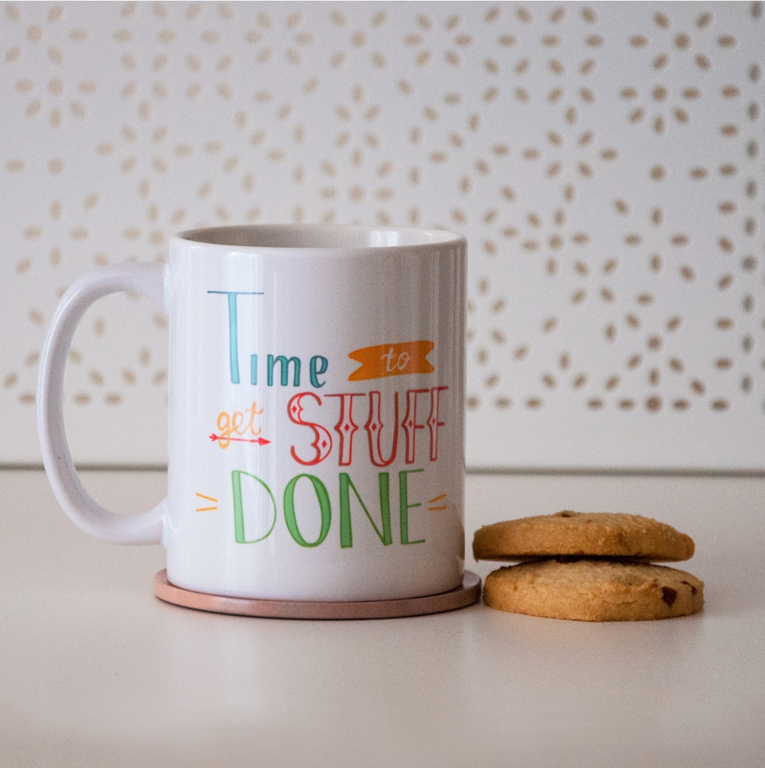 Time to Get Stuff Done Microwavable Coffee Mug | Available at Dessi-Designs.com