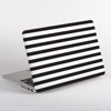 Black and White Stripes MacBook Case Side  | Available at Dessi-Designs.com