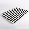 Black and White stripes MacBook Case Closed  | Available at Dessi-Designs.com