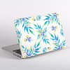 Watercolour Turquoise Floral Pattern MacBook Cover Side  | Available at Dessi-Designs.com