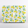 Yellow Lemons Pattern MacBook Case Front  | Available at Dessi-Designs.com