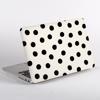 Black and White Painted Dots Pattern MacBook Cover Side  | Available at Dessi-Designs.com