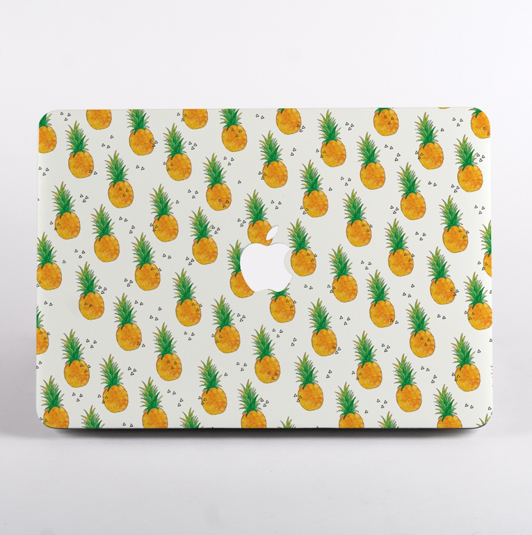 Pineapples Pattern MacBook Case Front  | Available at Dessi-Designs.com