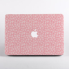 Pink Rosy Rose Pattern MacBook Case Front  | Available at Dessi-Designs.com