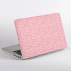Pink Rosy Rose Pattern MacBook Case Side  | Available at Dessi-Designs.com