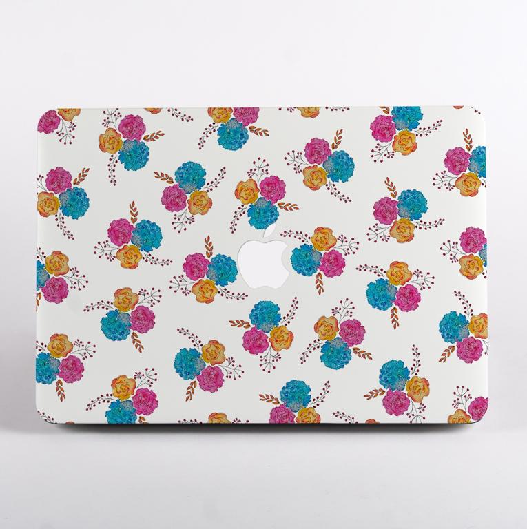 White Floral MacBook Case Front  | Available at Dessi-Designs.com