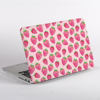 Pink Strawberry Pattern MacBook Cover Side  | Available at Dessi-Designs.com