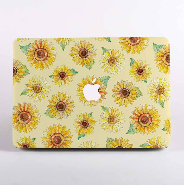 Yellows Sunflowers MacBook Case Front | Available at Dessi-Designs.com