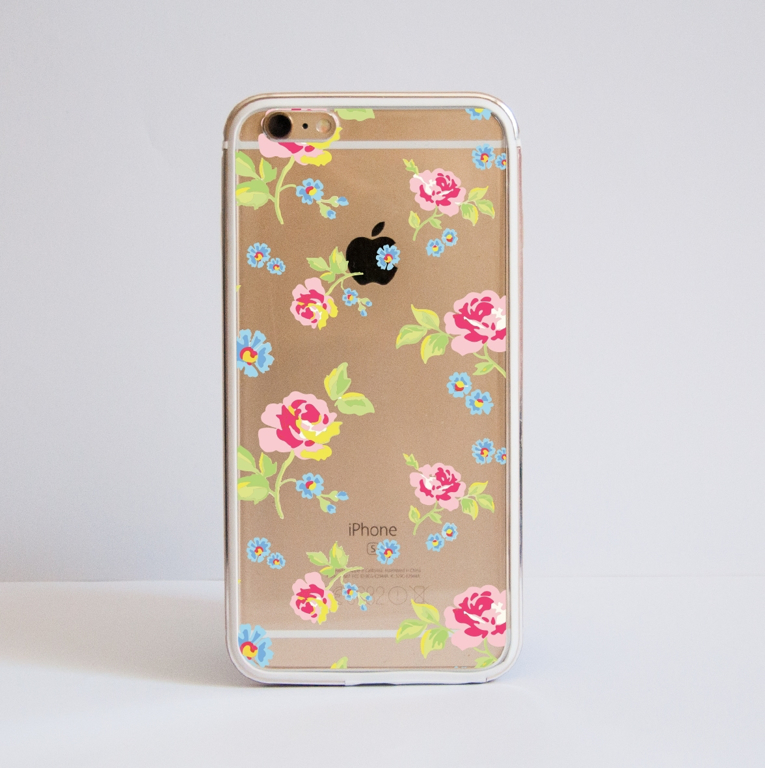 Clear Summer Floral Romance Bumper Case Front | Available at Dessi-Designs.com