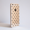 Clear Polka Dots iPhone Bumper Phone Case Side | Available at Dessi-Designs.com