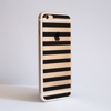 Black Stripes Transparent Bumper Case Side | Available at Dessi-Designs.com