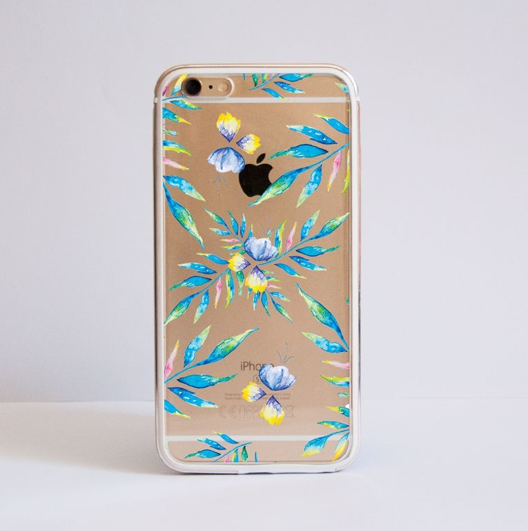 watercolour floral bumper case - front