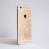 White Stars Clear iPhone Bumper Phone Case Side | Available at Dessi-Designs.com
