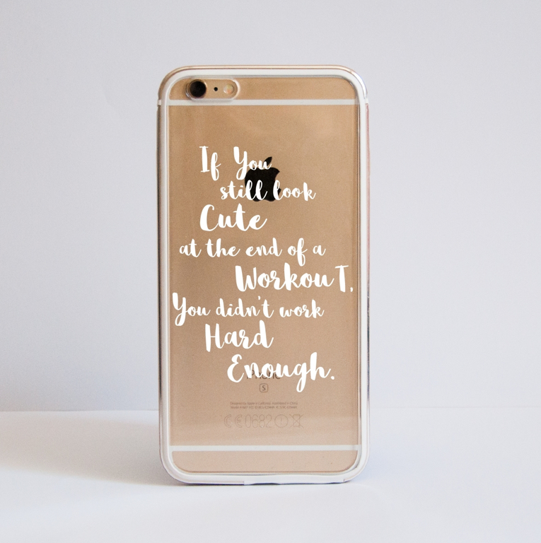 Not Enough Clear Bumper Phone Case Front | Available at Dessi-Designs.com