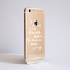 Not Enough Clear Bumper Phone Case Side | Available at Dessi-Designs.com