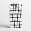 Black on White Cross Stripes Clear Bumper Phone Case Front | Available at Dessi-Designs.com