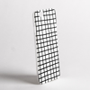 Black on White Cross Stripes Clear Bumper Phone Case Side | Available at Dessi-Designs.com