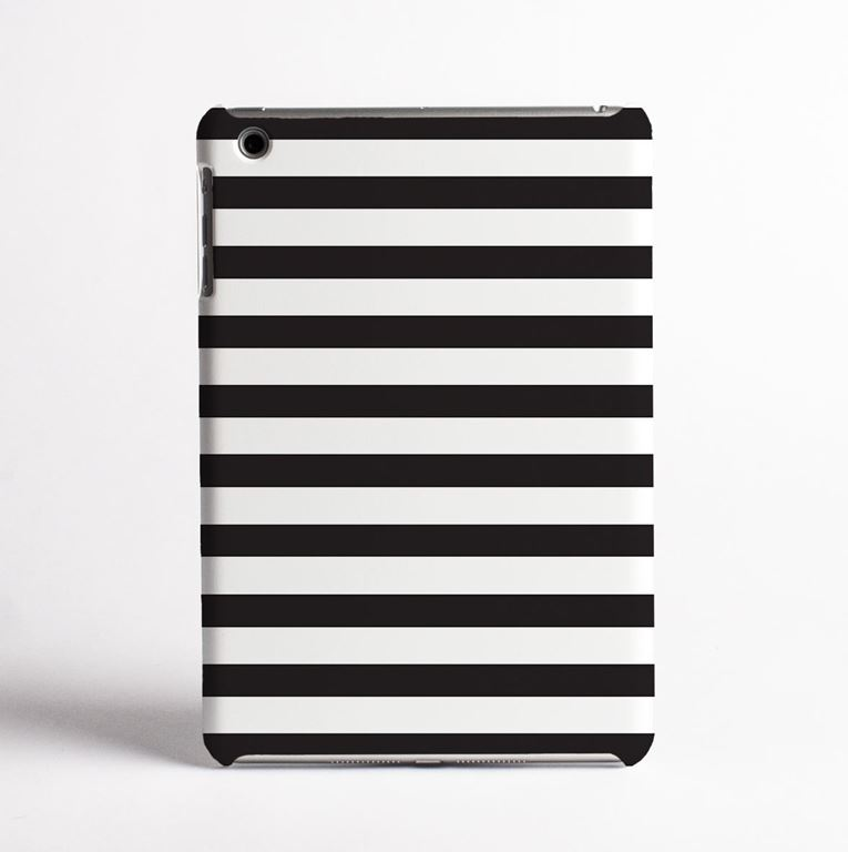Black and White Stripes Tablet Case- front