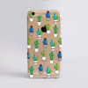 Clear Cactus Slimline Phone Case Front | Available at Dessi-Designs.com