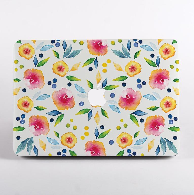 Autumn Florals MacBook Case Front | Available at Dessi-Designs.com