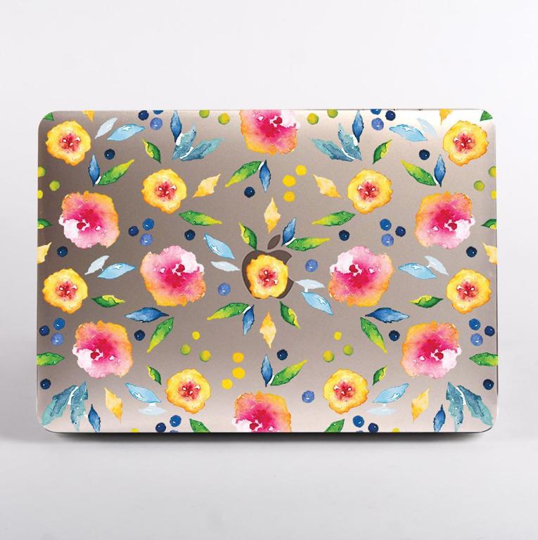 Autumn Florals Clear MacBook Case | Available at Dessi-Designs.com