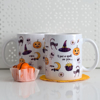 Cute Halloween Microwavable Coffee Cups | Available at Dessi-Designs.com