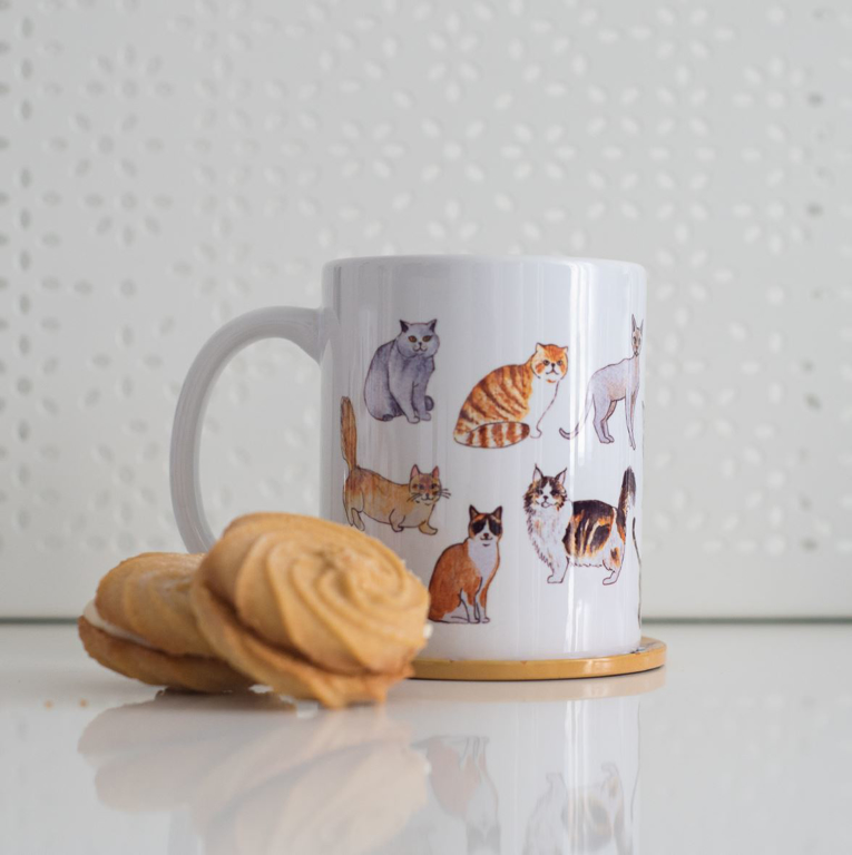 Cute Cats Microwavable Coffee Mug | Available at Dessi-Designs.com