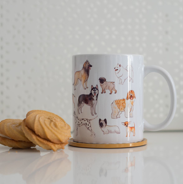 Dogs Coffee and Microwavable Mug | Available at Dessi-Designs.com