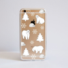 Clear Polar Bears iPhone Bumper Phone Case Front | Available at Dessi-Designs.com