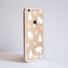 Clear Polar Bears iPhone Bumper Phone Case Side | Available at Dessi-Designs.com