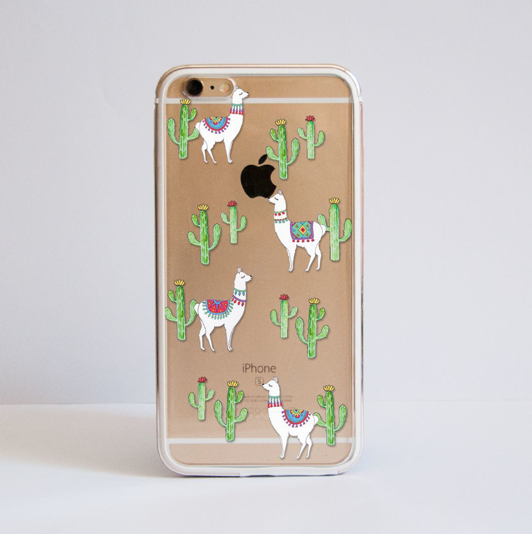 Clear Llama iPhone Bumper Phone Case Front | Available at Dessi-Designs.com