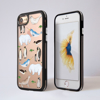 Arctic Animals Black Impact iPhone Case Front and Back | Available at Dessi-Designs.com