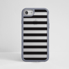 Black Stripes Clear Impact Phone Case Grey Front Silver iPhone | Available at Dessi-Designs.com