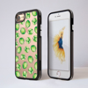 Brussels Sprouts Clear Black iPhone Bumper Phone Case Front and Back | Available at Dessi-Designs.com