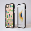 Clear Cactus iPhone Impact Phone Case Front and Back | Available at Dessi-Designs.com
