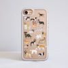 Clear Dogs White iPhone Impact Phone Case Front | Available at Dessi Designs