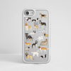 Clear Dogs White Silver iPhone Impact Phone Case Front | Available at Dessi Designs