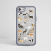 Clear Dogs Grey iPhone Impact Phone Case Front | Available at Dessi Designs